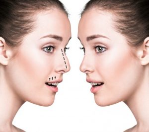 The effect of nose on the beauty of the face